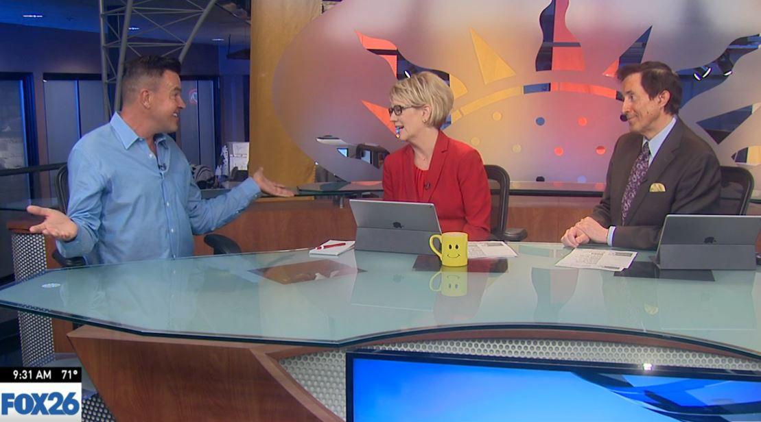 Michael Moloney stopped by FOX26 Great Day Thursday morning to talk about the house and his mystery suite.