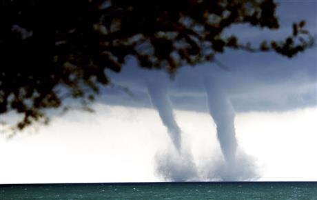 A water spout is basically a tornado over water, meteorologist Ed Townsend said.