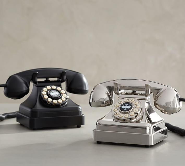 Crosley Kettle Classic Desk Phone from Pottery Barn ($59.95 – $69.95). Find on potterybarn.com. (Image: Pottery Barn)
