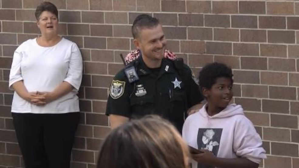 Alachua County Sheriff, mom surprises fifth-grader who turned