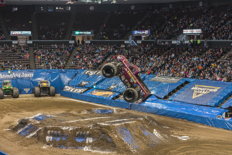 The Monster Jam Triple Threat, an event in which athletes were put to the test handling Monster Jam trucks, ATVS, and Speedsters, took place on Saturday, April 7 at US Bank Arena. / Image: Mike Menke // Published: 4.8.18