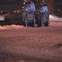 Icy roads cause slippery morning commute