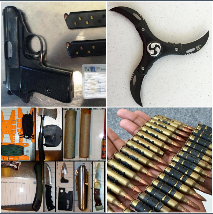 items confiscated  tsa agents wjla