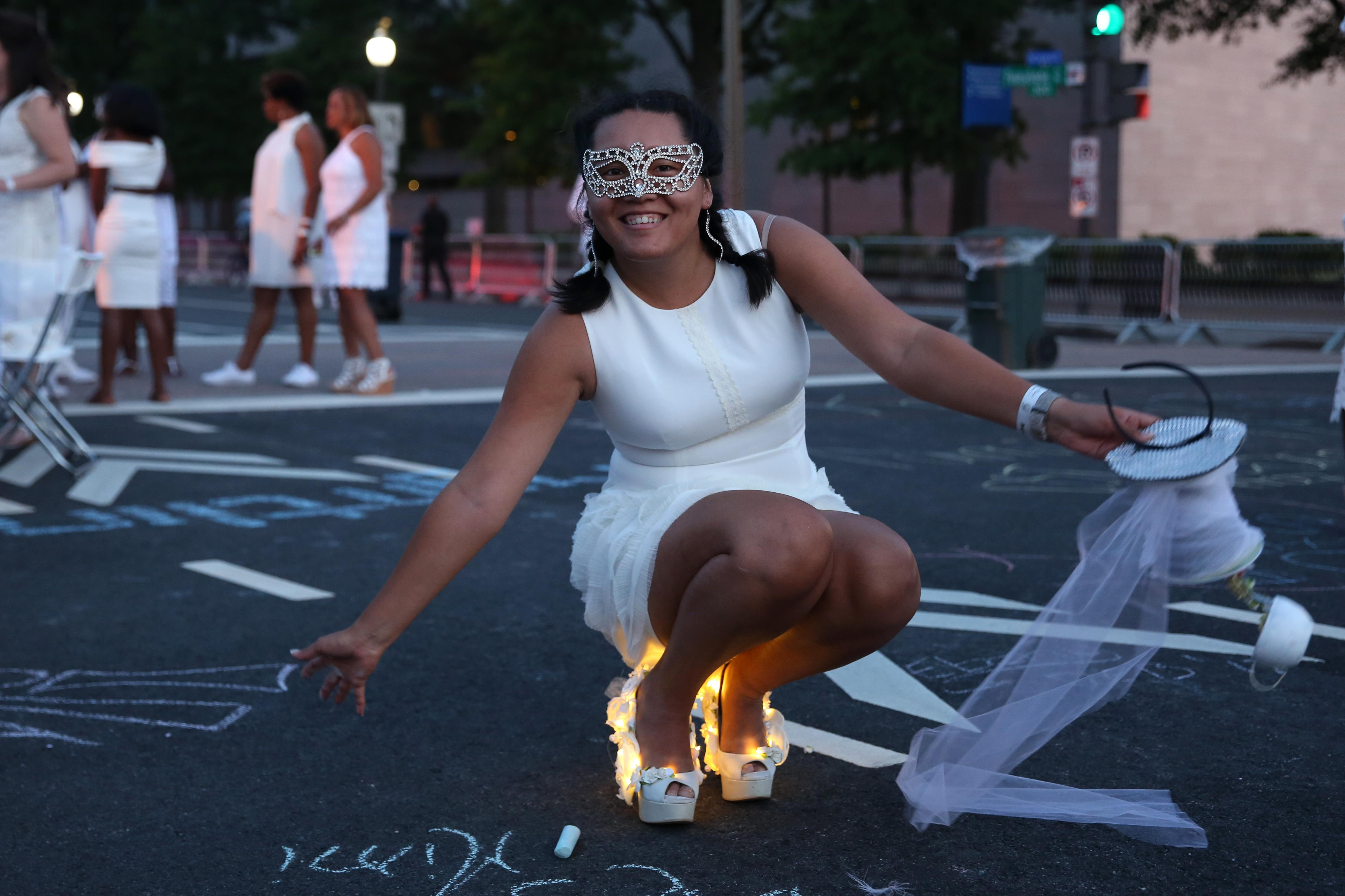 Cierra Roach's heels were out of this world.  (Amanda Andrade-Rhoades/DC Refined)