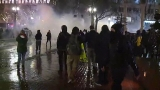 Protesters, police clash in downtown Portland, five arrested