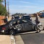 Car collides with power pole injuring two on Breckenridge Road