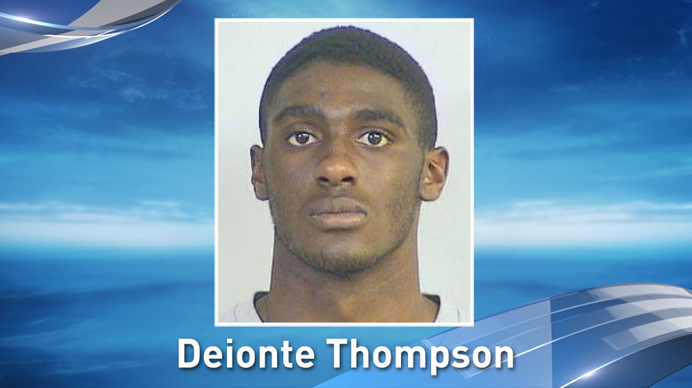 Deionte Thompson is charged with assault in connection to a March 18 incident at Crystal Beach, which permanently injured a man's face.
