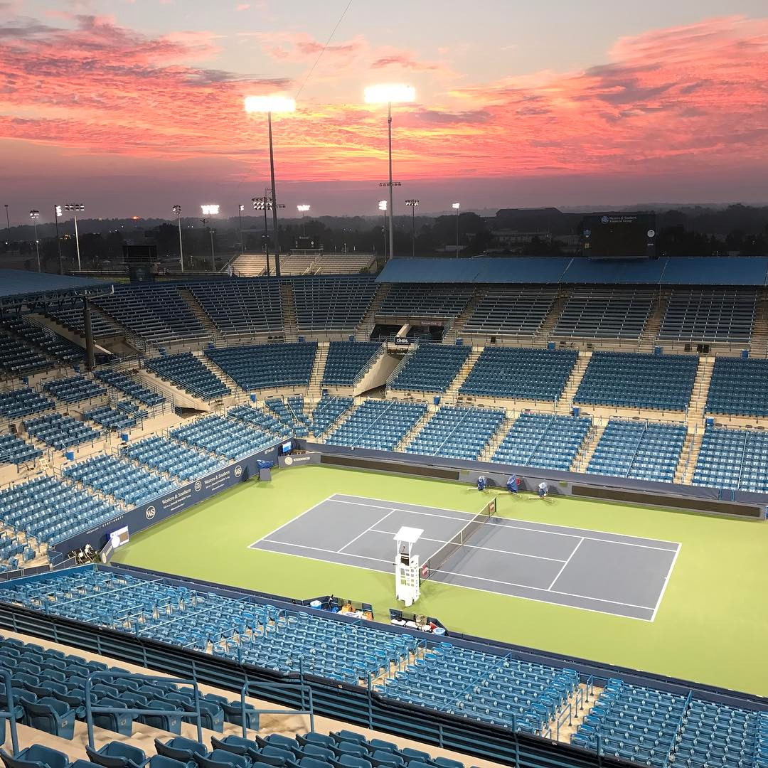 POST: Good morning from @cincytennis Center Court for another beautiful day of tennis. / IMAGE: IG user @cincinnatipeople // Published: 8.17.17
