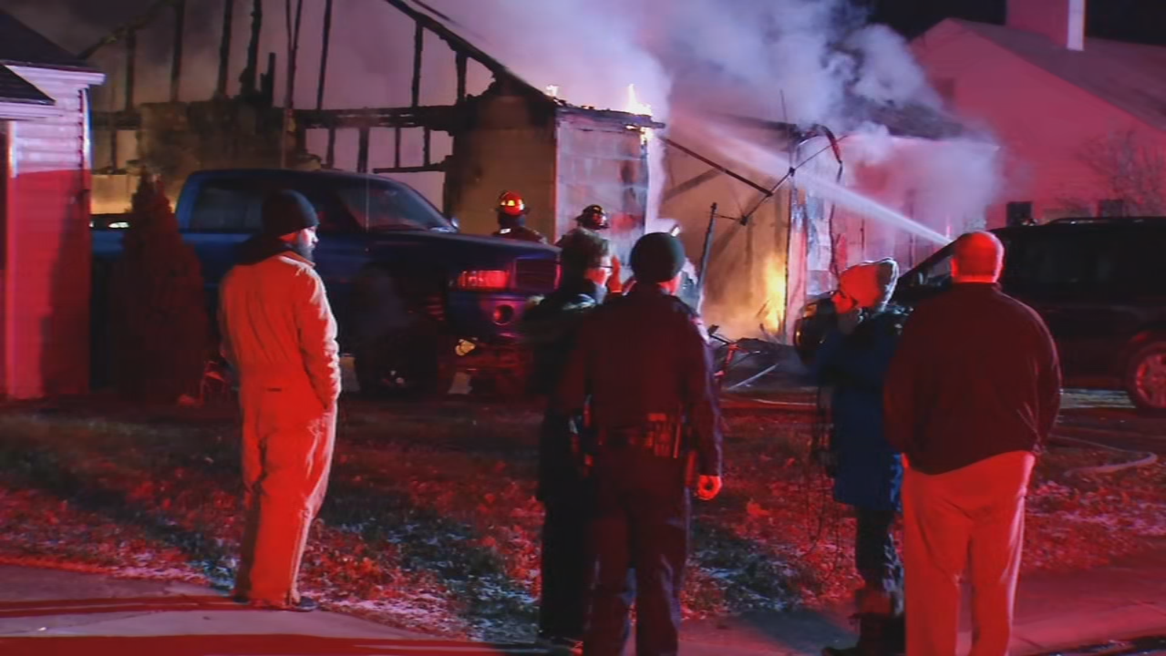 Fire destroys a Miamisburg home Wednesday morning, the cause is unknown. (WKEF/WRGT)