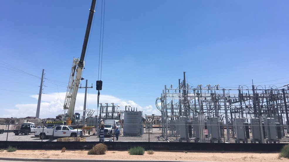 El paso electric fixing transformer after recent outages for Gutierrez motors el paso texas