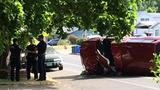 Police: Pickup hit tree, overturned at Chambers & 20th; avoid the area