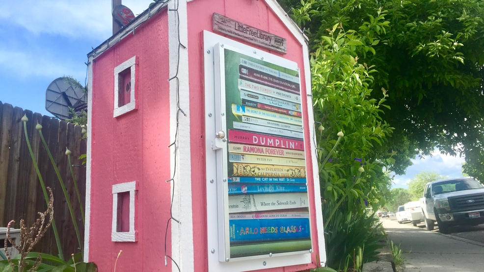 Boise Bench community gives vandalized Free Little Library new life