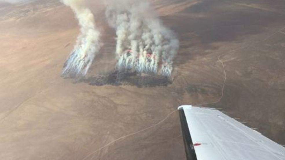 3,500 acre wildfire sparks in southern Utah