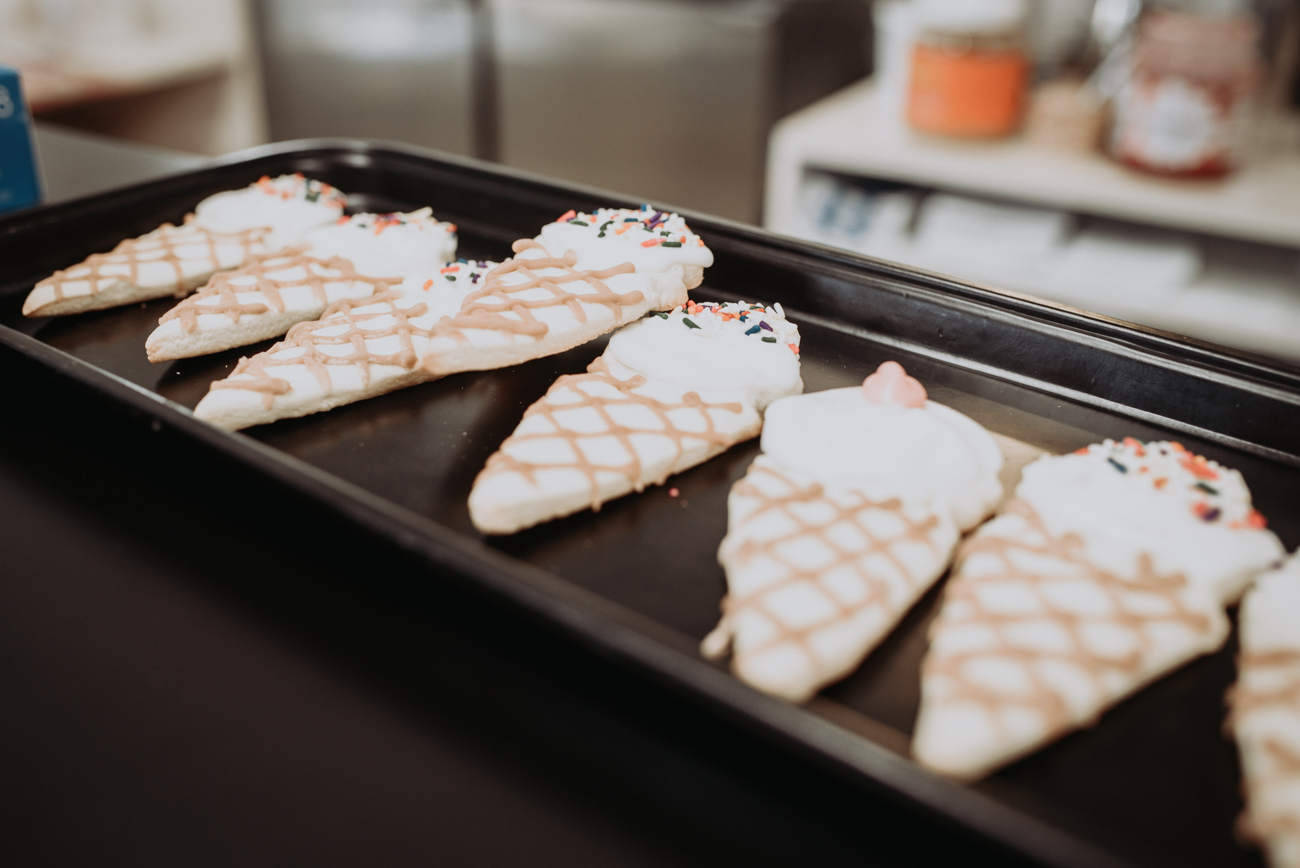 Ice cream cone sugar cookies / Image: Brianna Long // Published 5.21.18