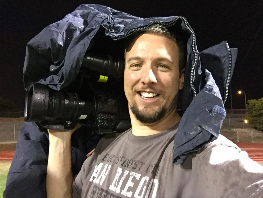 Operation Football 8/26/16: Trying to stay dry while the Palo Verde Panthers take on the Las Vegas Wildcats (Chad Graves | KSNV)