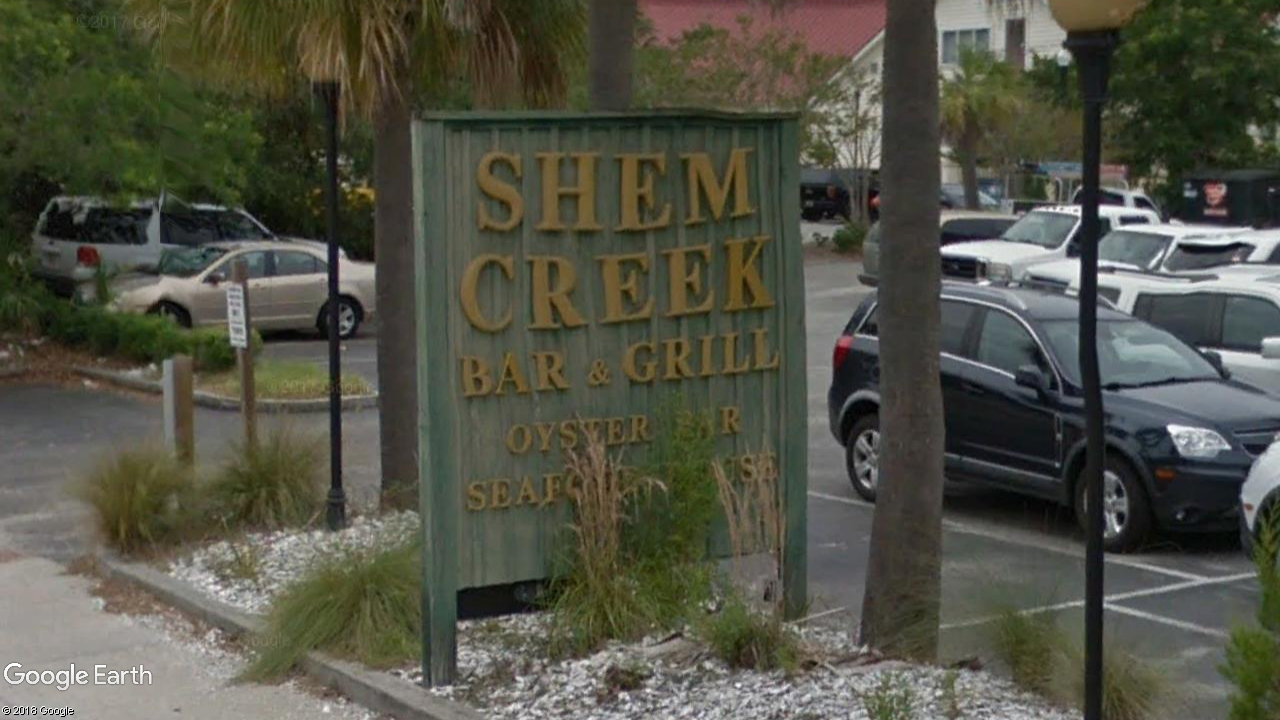 Shem Creek Bar &amp;amp; Grill, 508 Mill St., Mount Pleasant, S.C. (Google Earth)<p></p>
