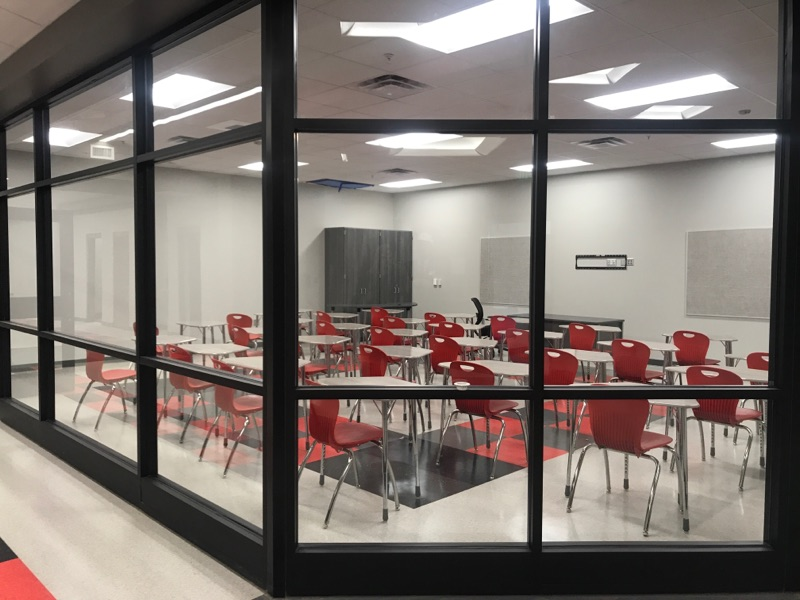 Classroom inside Alabaster's new Thompson High School<p></p>
