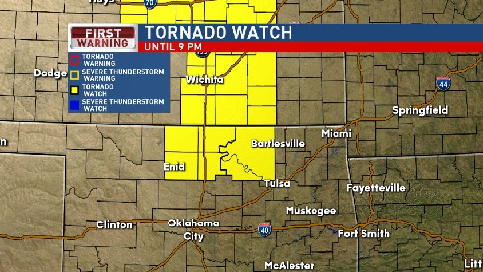 Tornado Watch issued for parts of Green Country