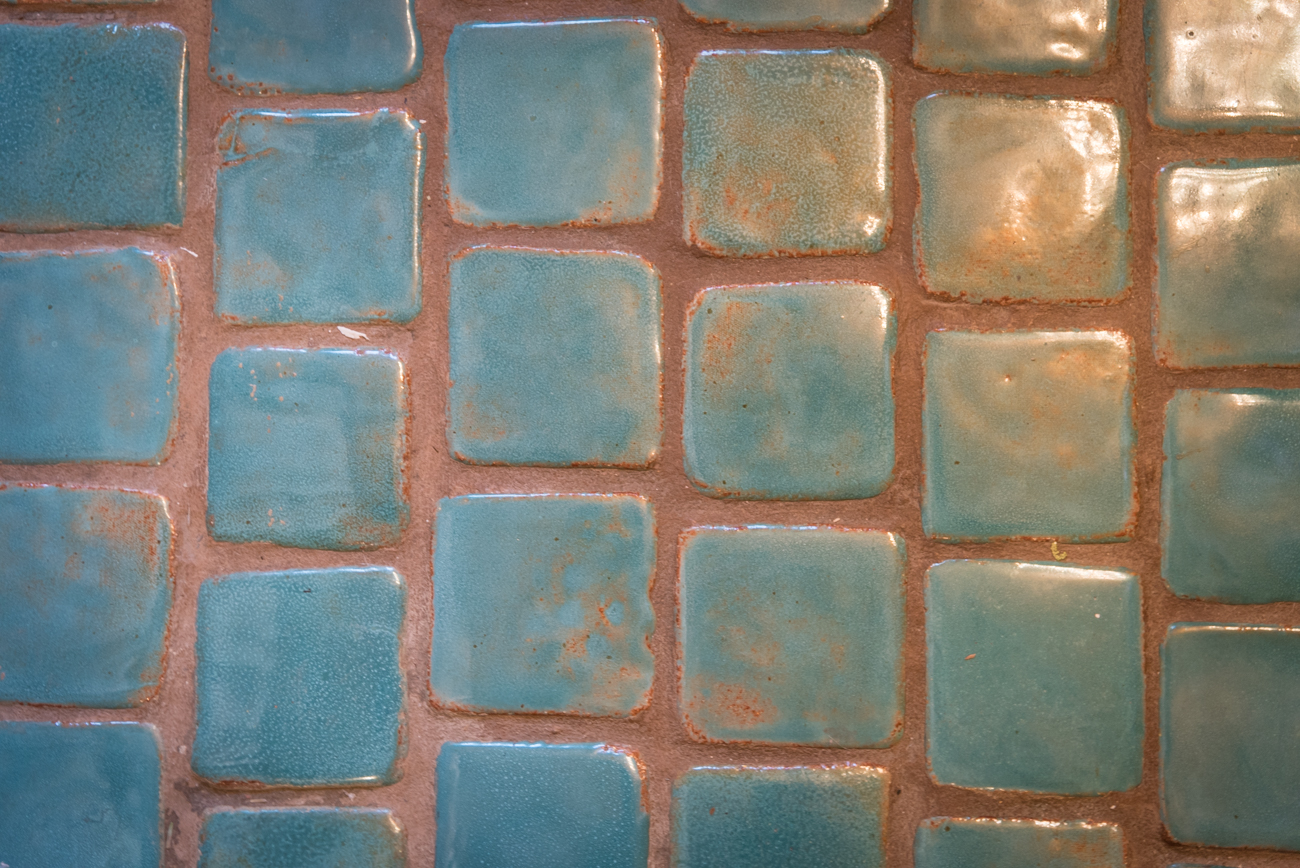 A potter lived in the apartments at one time and created custom tiles that are currently part of the kitchen and bathrooms. / Image: Phil Armstrong, Cincinnati Refined // Published: 3.23.17