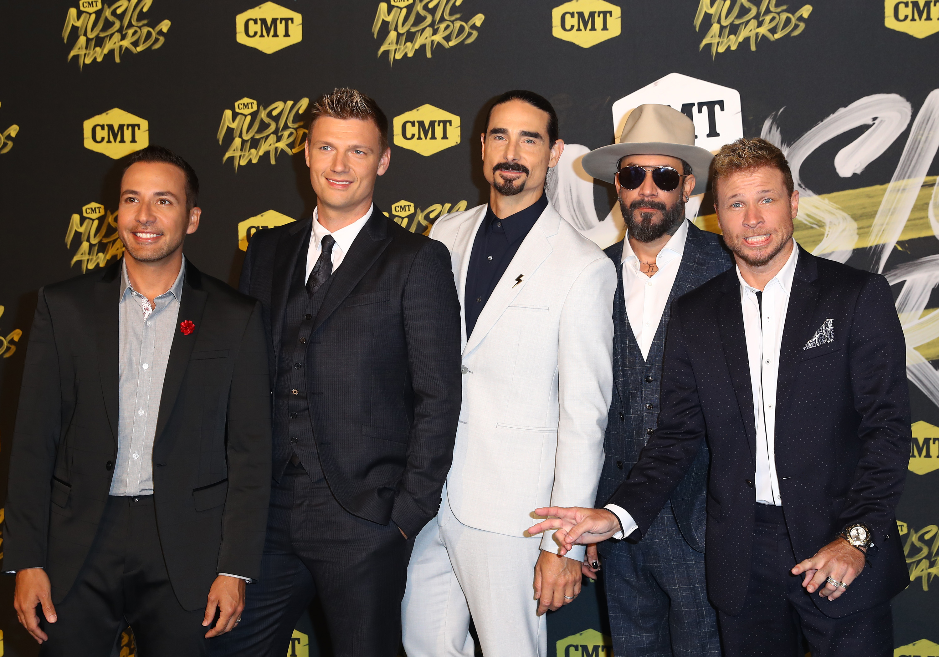 2018 CMT Music Awards Love from the Bridgestone Arena in Nashville, TNFeaturing: Backstreet BoysWhere: Nashville, Tennessee, United StatesWhen: 06 Jun 2018Credit: Judy Eddy/WENN.com