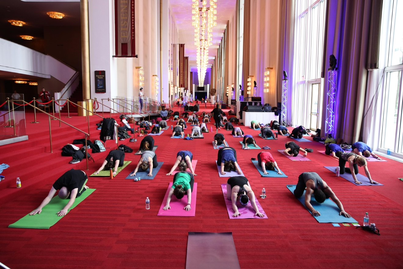 Head to the Grand Foyer for a 60-minute relaxing Vinyasa yoga class suitable for all levels. Classes are taught by a rotating yogi nearly every Saturday through August 25 at 10:15 a.m. Free to attend. (Image: Amanda Andrade-Rhoades/ DC Refined)