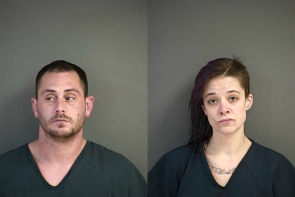 Arrested in Canyonville: Terry Thomas and Whitney Atterbury (Douglas County Sheriff's Office photos)