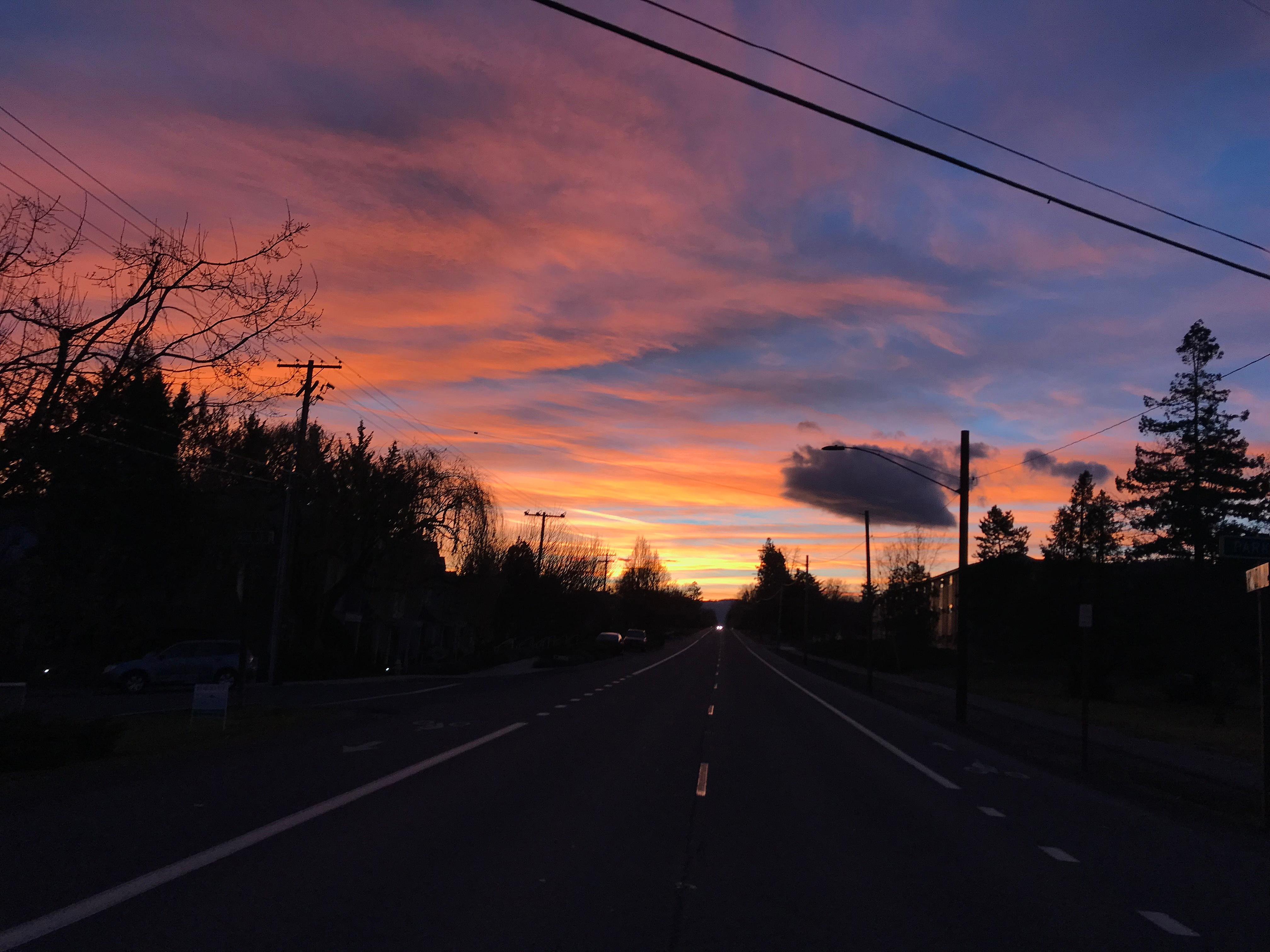 Jerry Hauck took this photo during his morning walk on Siskiyou Boulevard.