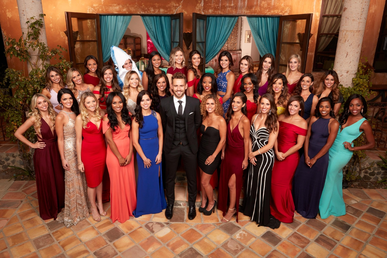 "When Bachelorette Andi Dorfman said goodbye to Nick Viall just as he was preparing to pick out a ring for her, he was devastated. When Nick walked up to Kaitlyn Bristowe with an engagement ring in his pocket, only to be sent home, he was crushed. How could one man endure so much heartbreak? But 35-year-old Nick Viall, a technology salesman from Milwaukee,  came back ready and eager to begin his search for true love on the  21st season of ABC's  hit romance reality series ""The Bachelor,"" with 30 women all competing for his heart this time around! (ABC/Craig Sjodin)"