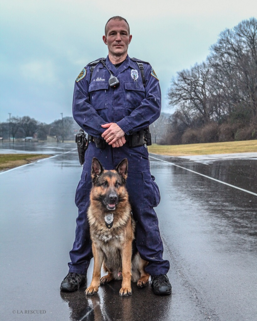 Officer Denton & Cletus PHOTO: MNPD