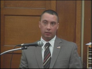 Thomas Caine White on stand at his trial, Thursday, May 13, 2010.