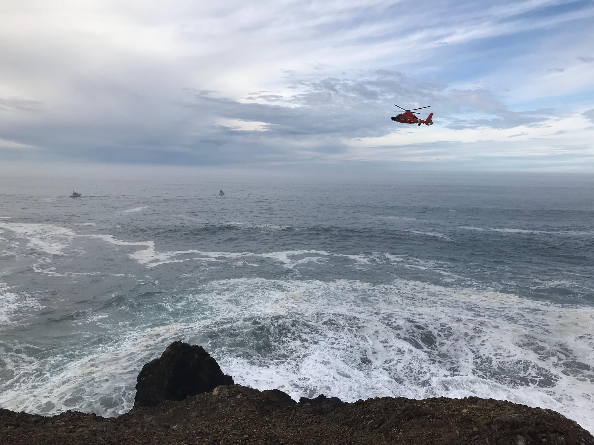 A wave swept a Nevada man out to sea Wednesday morning, Oregon State Police said. State police from Gold Beach responded at 10:35 a.m., along with the U.S. Coast Guard. (OSP)