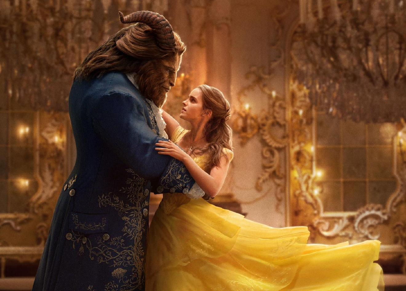The Beast (Dan Stevens) and Belle (Emma Watson)  in Disney's BEAUTY AND THE BEAST, a live-action adaptation of the studio's animated classic which is a celebration of one of the most beloved stories ever told.