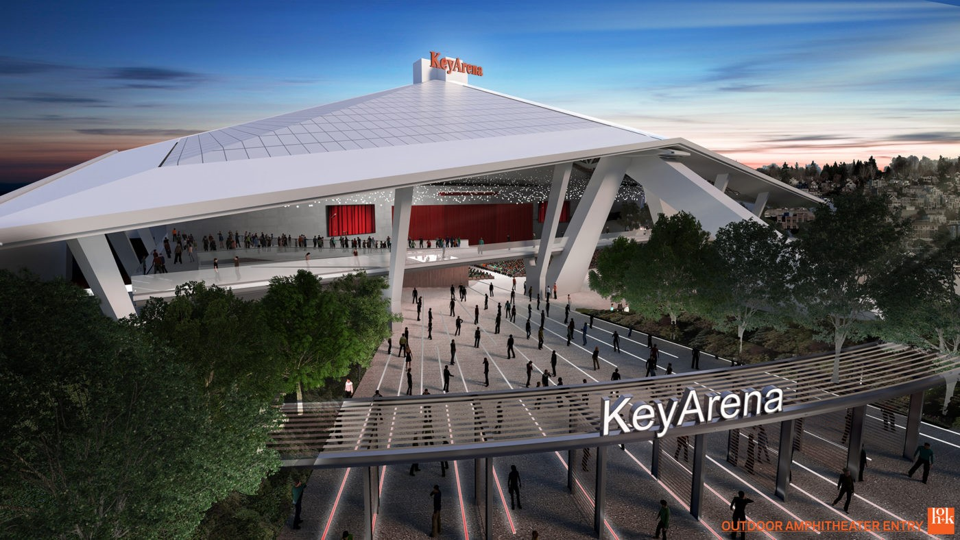 The proposed Seattle Center Amphitheater. (Photo courtesy Sonics Arena group)