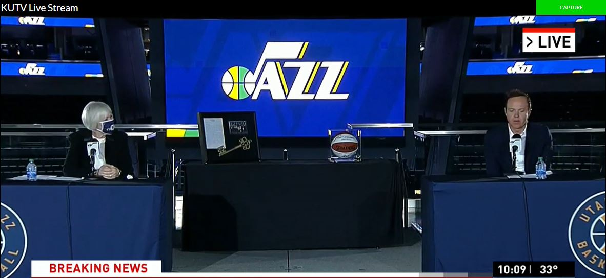 Gail Miller announced plans to sell the Utah Jazz to Ryan and Ashley Smith on Tuesday, Oct. 28, 2020. (Photo:  KUTV)