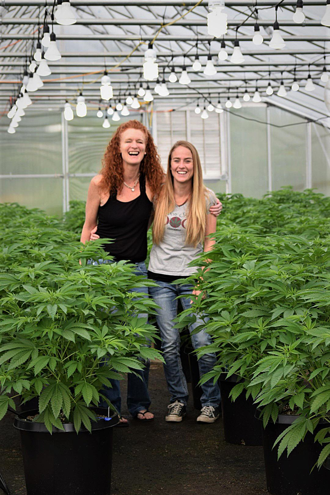 Valerie Montague, left, and Kristine Miller, owners of Moon Shine Gardens in Josephine County. (Photo Courtesy of Moon Shine Gardens)