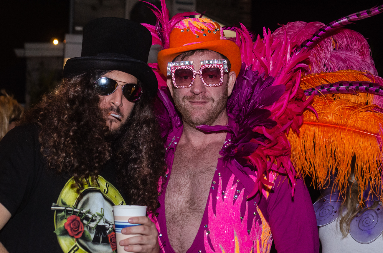 Jason Alghussein as Slash and Brent Miller as Elton John at Rhinegeist's annual Halloween party / Image: Kellie Coleman // Published: 11.1.19