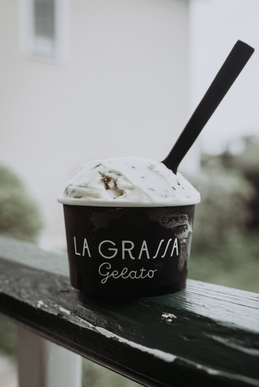 The chocolate chunk gelato / Image: Brianna Long // Published 5.24.18
