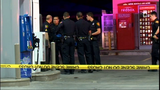 Man shot during confrontation at gas station, gunman on the loose
