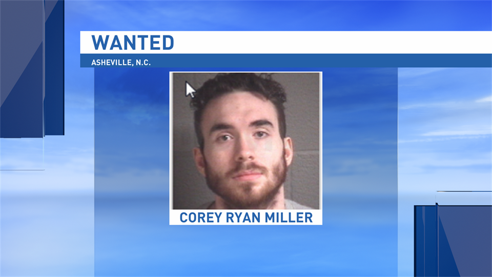 If anyone has information on the whereabouts of Corey Ryan Miller they are encouraged to contact the Asheville Police Department at (828) 252-1110 or Buncombe County Crime Stoppers at (828) 255-5050. (Photo credit: Asheville Police Department)
