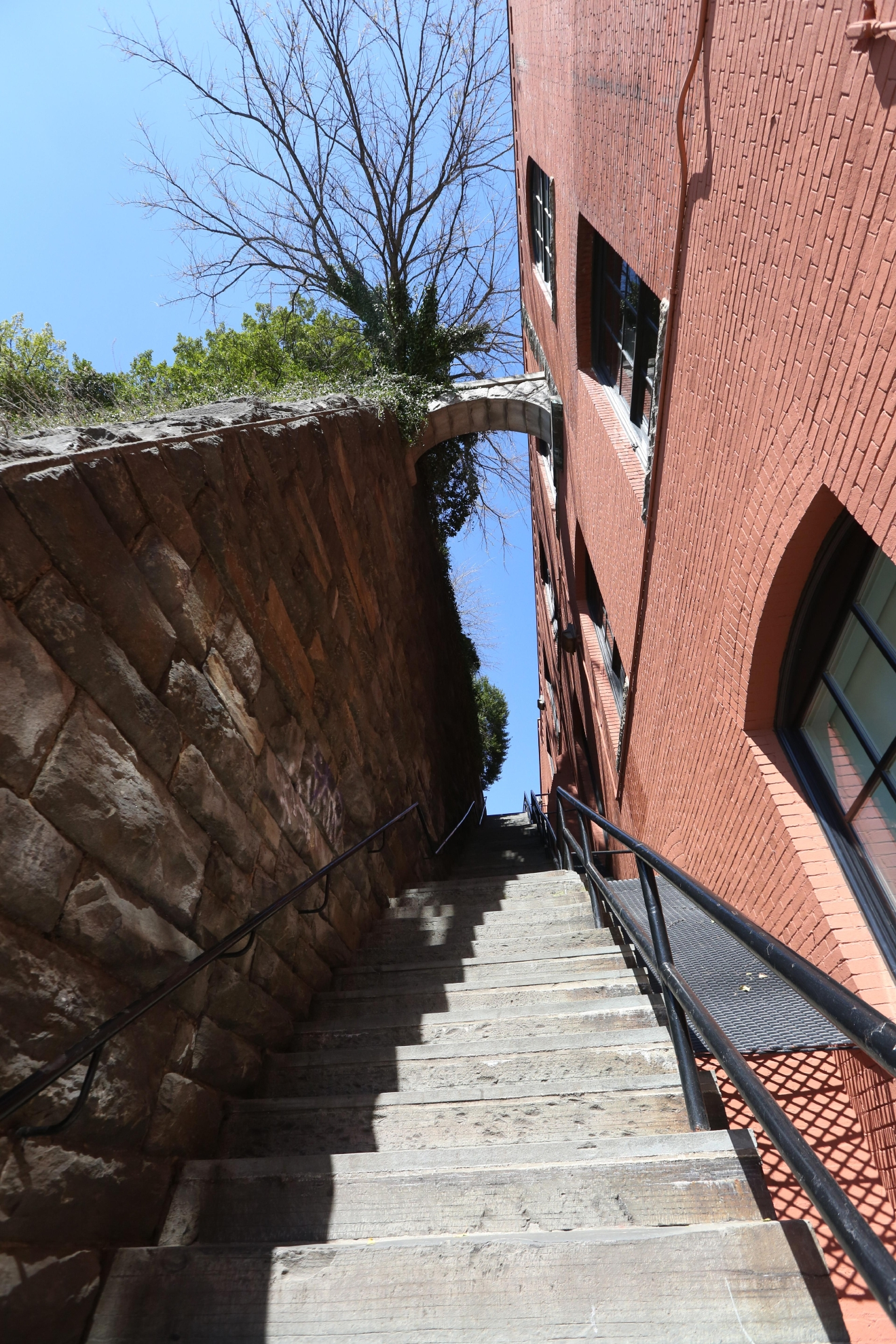 "If you'd use the words ""terrifying"" or ""psychologically scarring"" to describe the end of your relationship, break up at The Exorcist Steps in Georgetown. It's a way to tell your soon-to-be ex how you really feel about them without saying a word. Just be sure to do the deed at the bottom of the steep steps - not the top. (Amanda Andrade-Rhoades/DC Refined)"