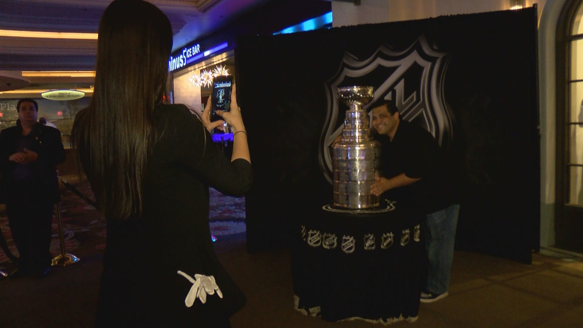 The Stanley Cup is on display Monday, June 19, 2017, outside the Park Theater Retail Store at Monte Carlo Resort and Casino on the Las Vegas Strip. (Robert Varela/KSNV)