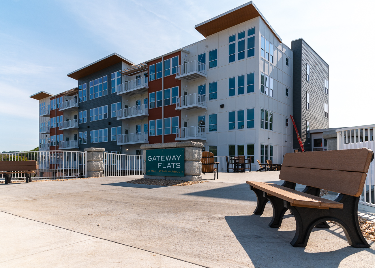 The Gateway Flats are 76 luxury rental units located at 284 Manhattan Blvd. / Image: Phil Armstrong // Published: 9.27.20