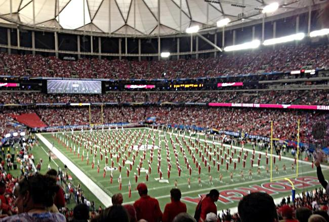 Alabama's Million Dollar Band at the 2012 SEC Championship in Atlanta on Saturday, December 1, 2012.