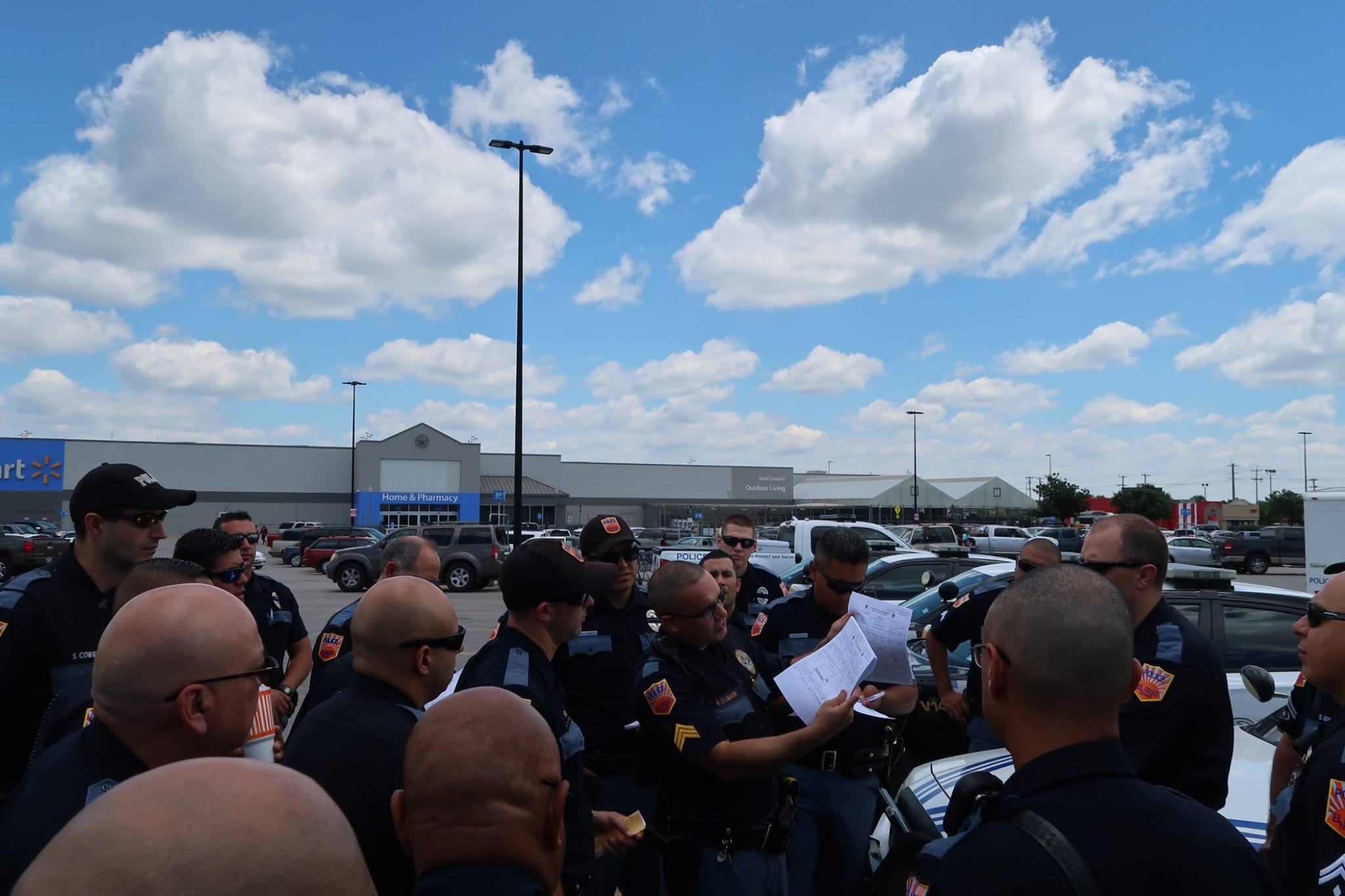 Officers with the El Paso Police Department were collecting water donations in San Antonio for those affected by Harvey. Credit: City of El Paso.