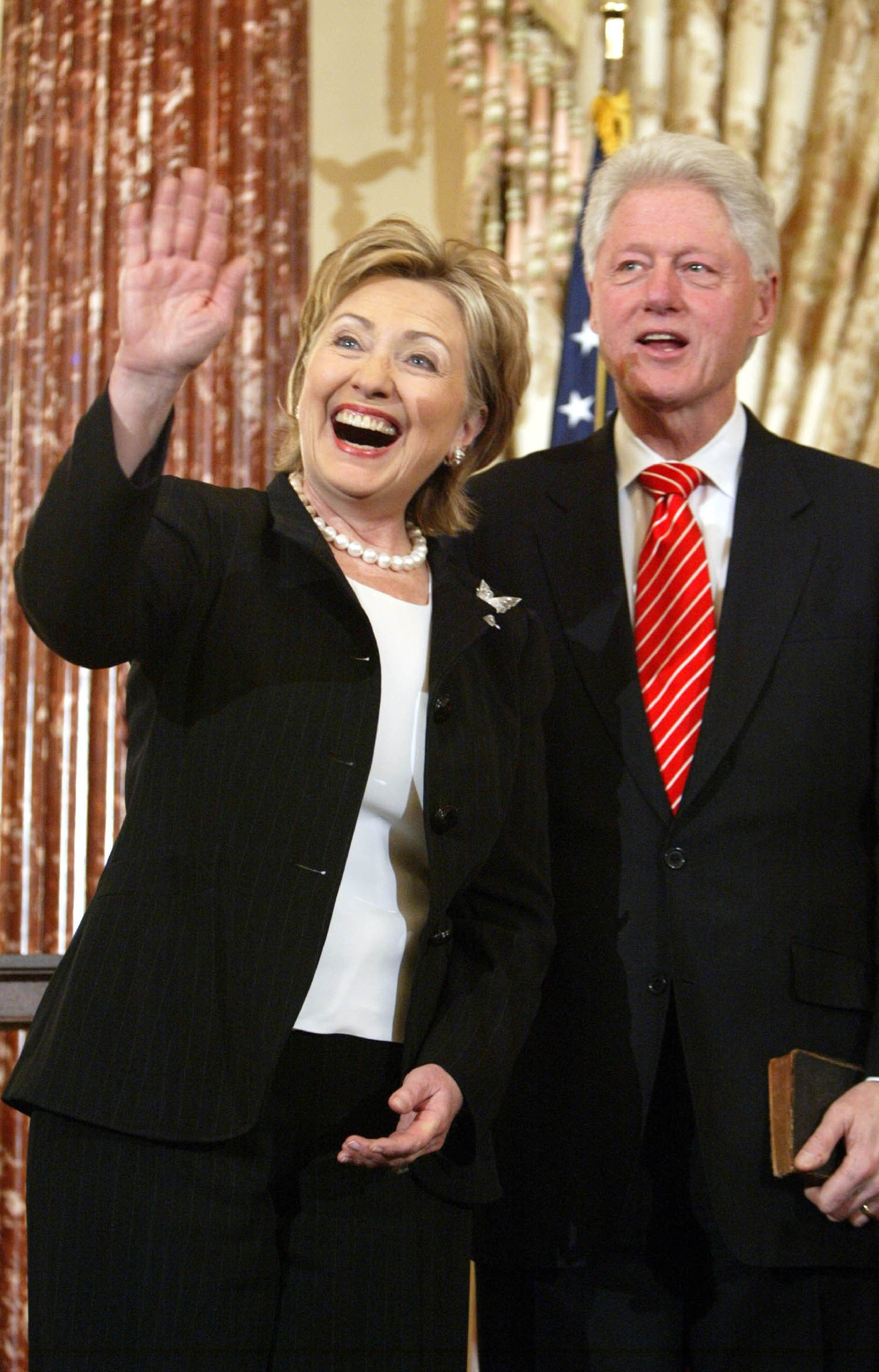 Hillary Clinton and Bill Clinton The swearing-in of Secretary of State Hillary Clinton at the State Department Washington  Featuring: Hillary Clinton and Bill Clinton Where: DC, United States When: 02 Feb 2009 Credit: WENN.com