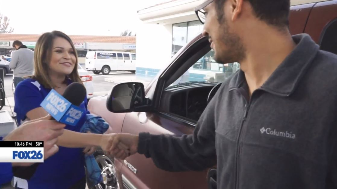 Nick introduces Mario to Sophia from Fahrney Automotive Group in Selma