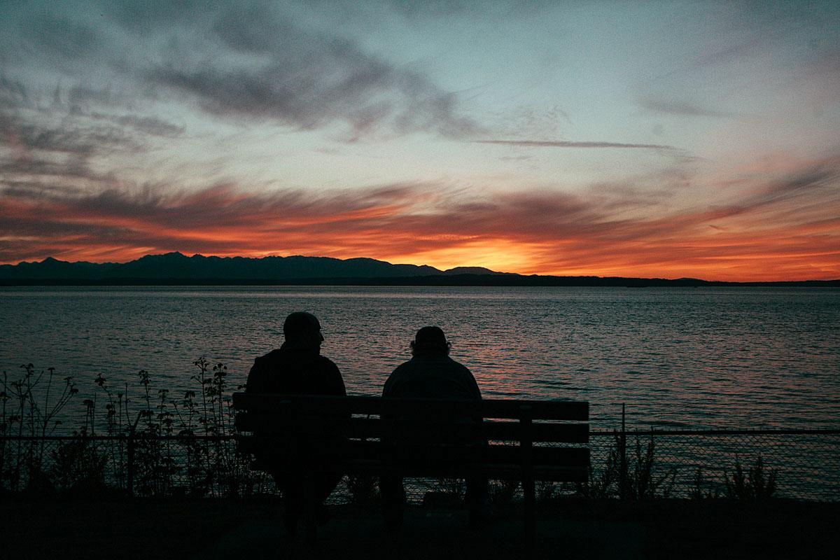 Last night's sunset was epic. Did you catch it? Here was our view from Carkeek Park in the Broadview neighborhood of Seattle. Today is supposed to be a high of 84 with the sunset around 8:19pm - so get your camera's ready! (Image: Joshua Lewis / Seattle Refined)