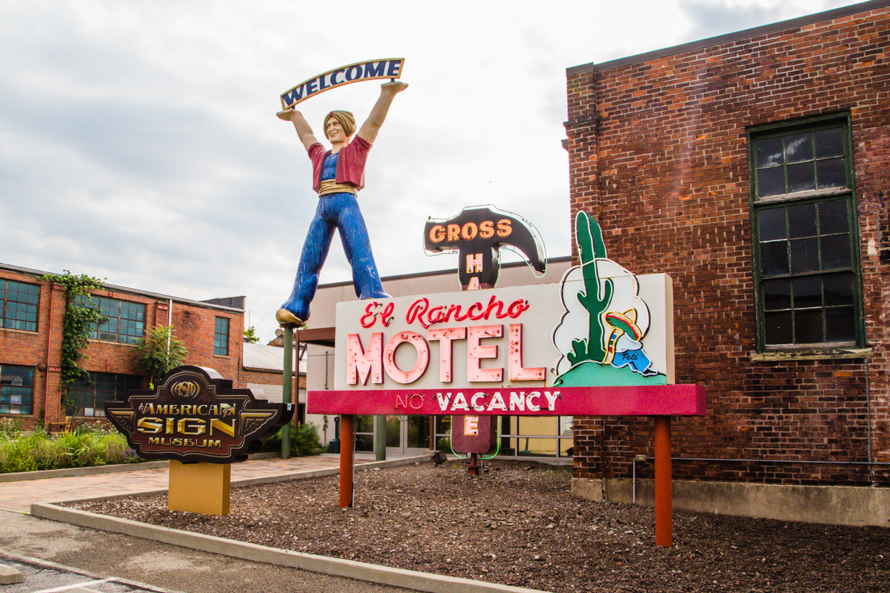 The American Sign Museum in Camp Washington is a moderately-large museum filled with antique signs of various shapes and sizes that have been used to advertise businesses (both defunct and still-operating) across the United States.  / Image: Catherine Viox // Published: 7.21.17