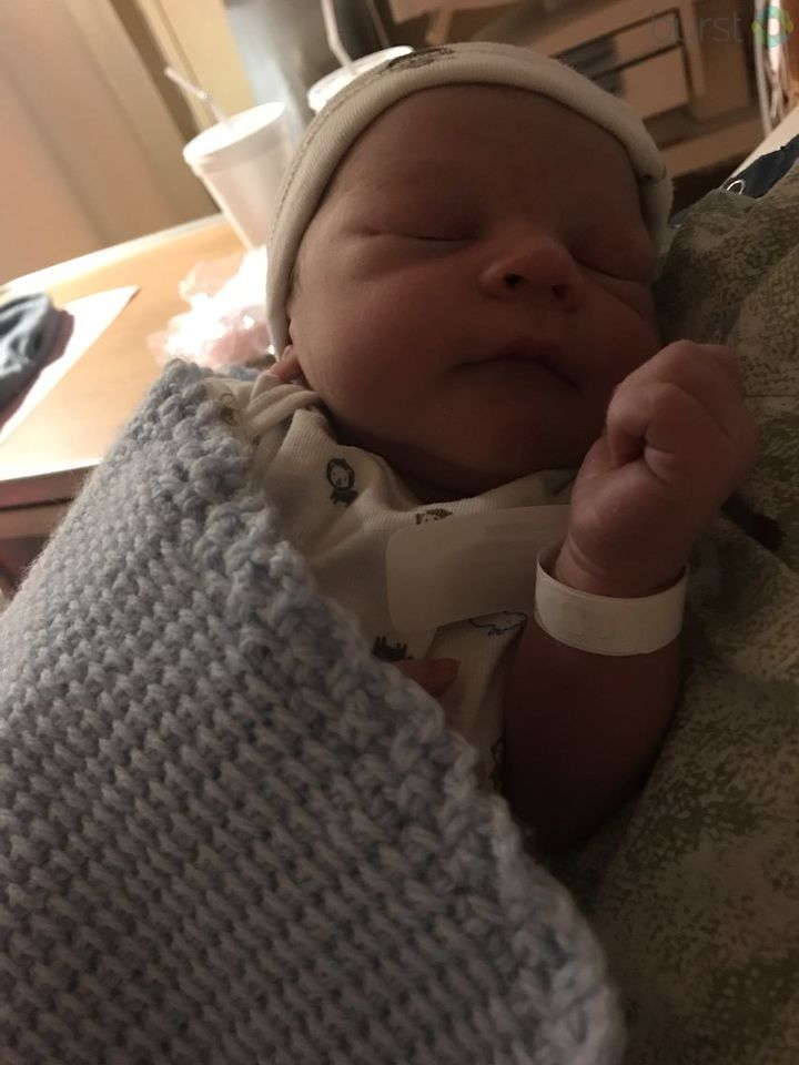 Baby Braxton was born at 12:12 this morning at McLaren Hospital in Flint. (Photo Credit: Breanna Yelinek)