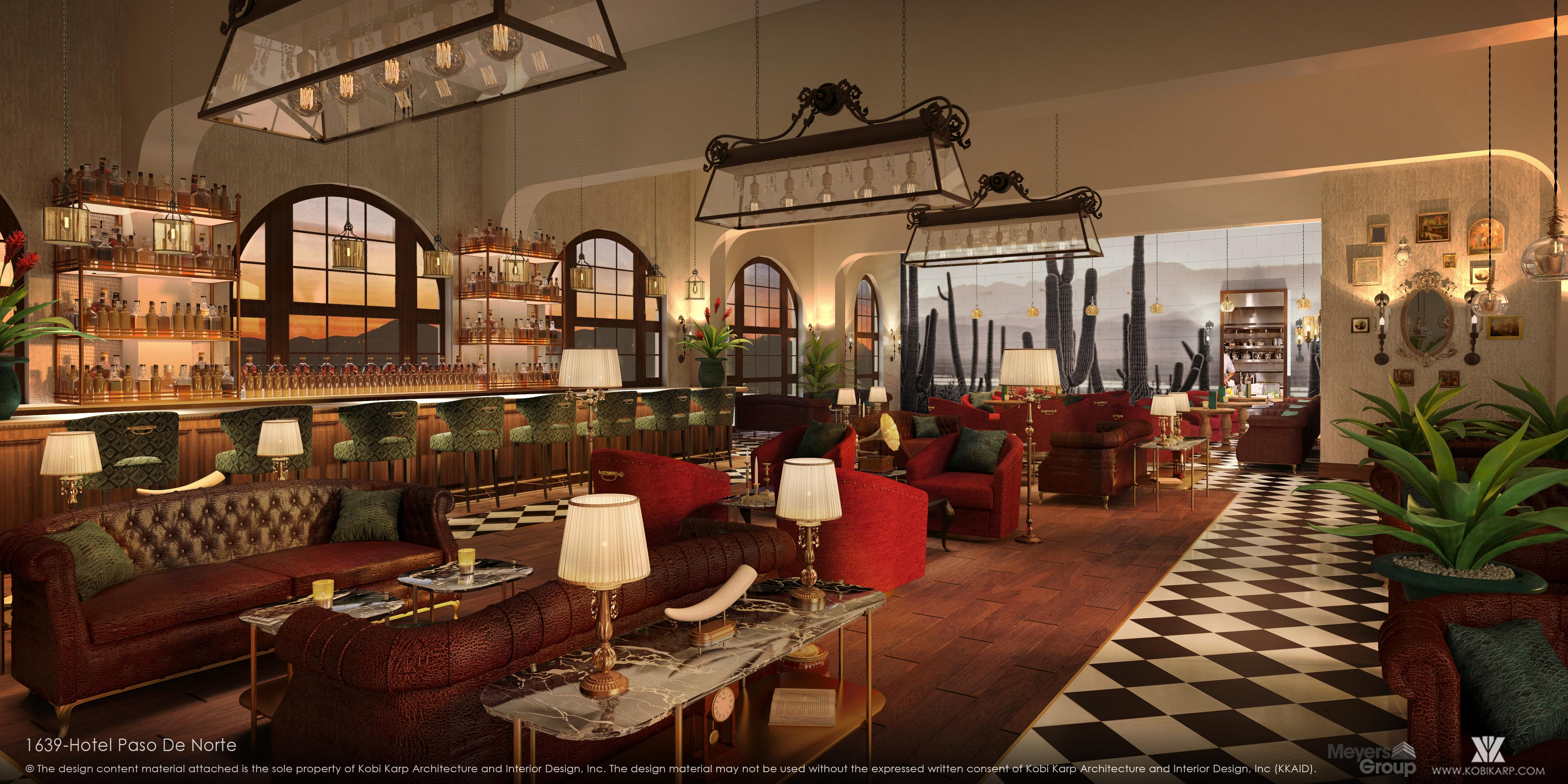 Hotel Paso Del Norte renderings (Credit: Kobi Karp Architecture and Interior Design, Inc.)